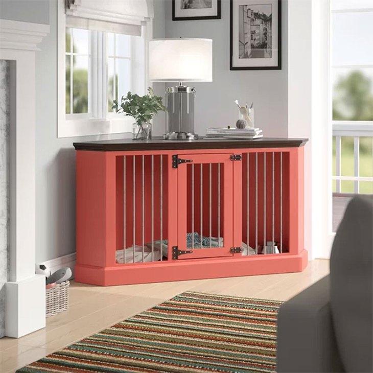 Corner Credenza Dog Crate Furniture