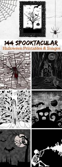144 Spooktacular Free Halloween Printables & Clip Art Images