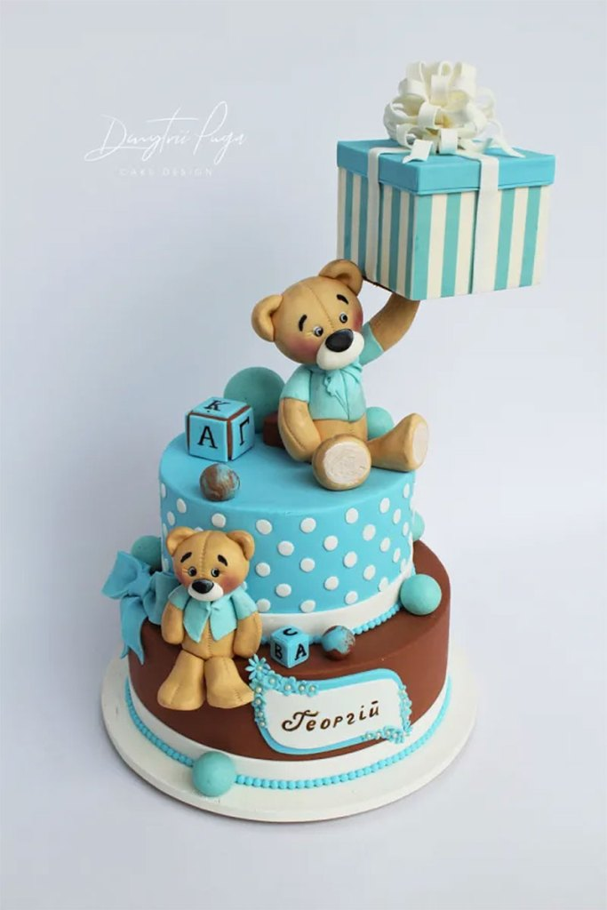 Beautiful Teddy Bear Cake