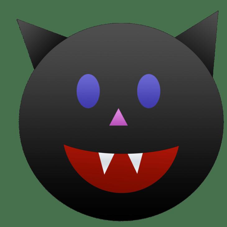 Black Cat Halloween Emoji