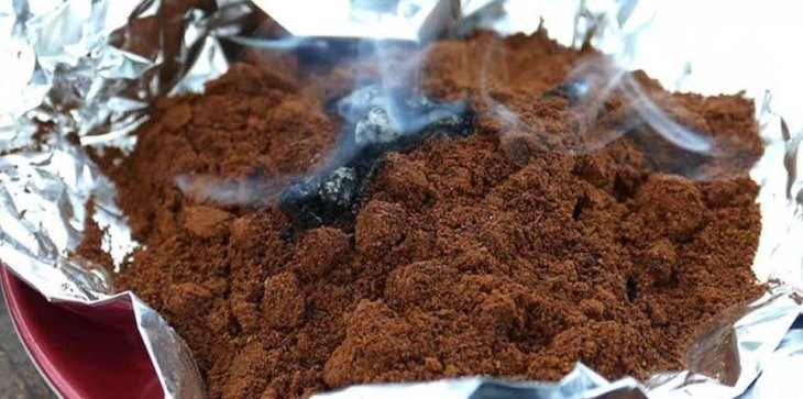 Burning Coffee Grounds to Ward Off Mosquitoes