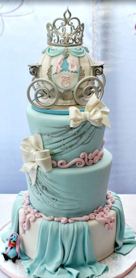 Cinderella's Coach Birthday Cake