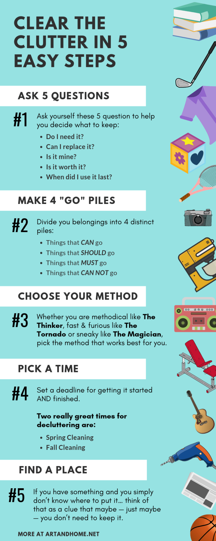 Clear the Clutter in 5 Easy Steps: An Infographic