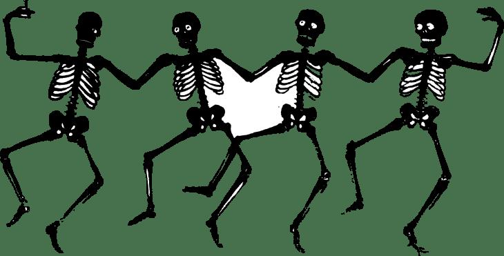Dancing Skeleton Halloween Clip Art