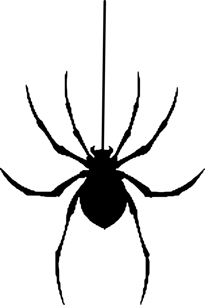 Dangling Spider Free Halloween Printable Clip Art