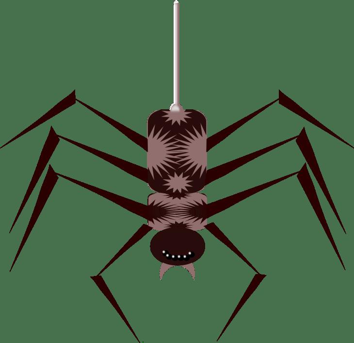 Deco Spider Free Halloween Printable Clip Art