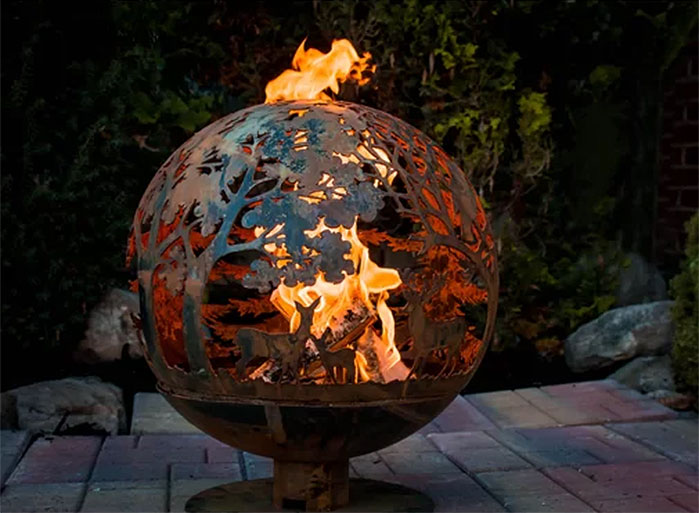 Fancy Flames Woodland Wood Burning Fire Pit