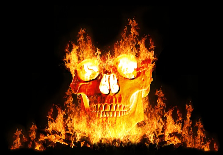 Flaming Skull | Halloween Art You Can Print