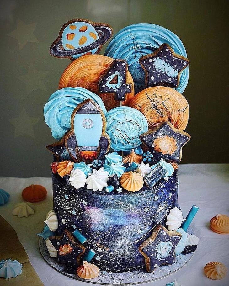 Galaxy of Fun Birthday Cake