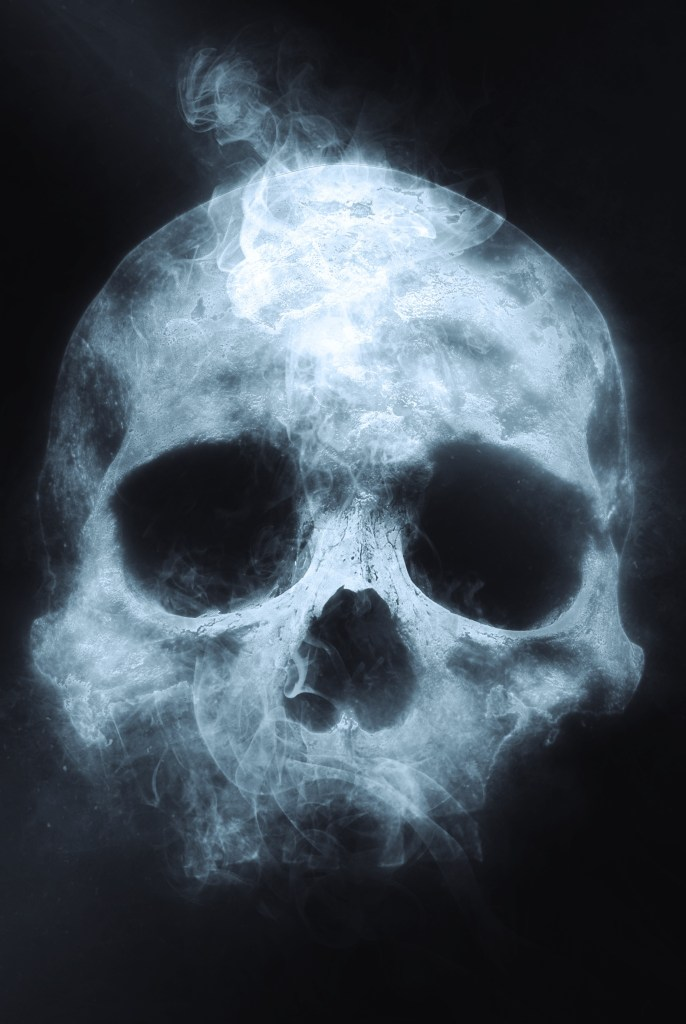Ghostly Skull | Halloween Art You Can Print