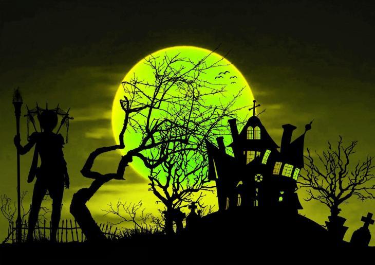 Green Evening Free Halloween Printable