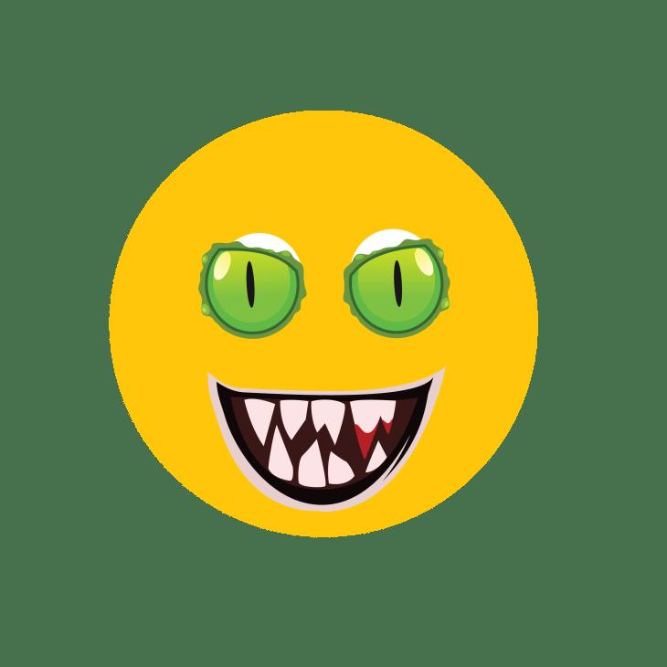 Green Eyed Halloween Emoji | Halloween Clip Art