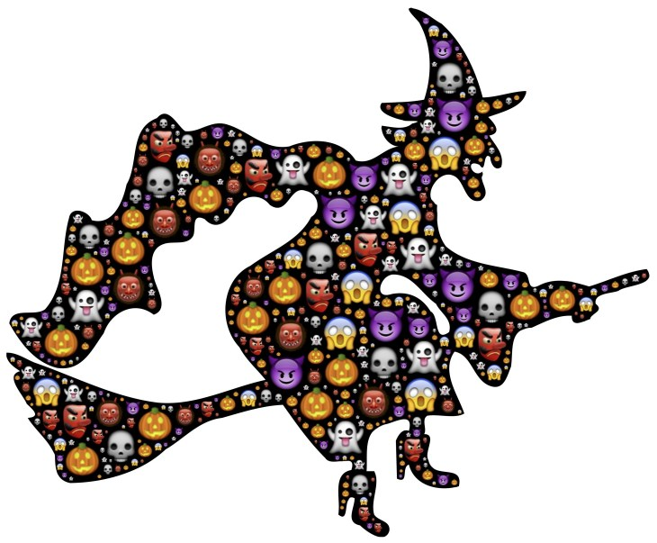 Halloween Emoji Witch | Printable Halloween Art