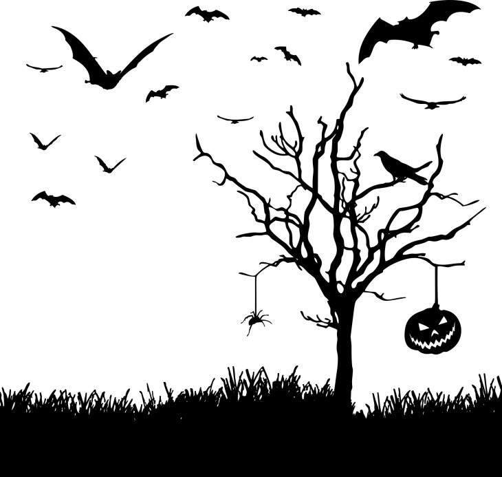 Halloween Landscape Free Printable Clip Art