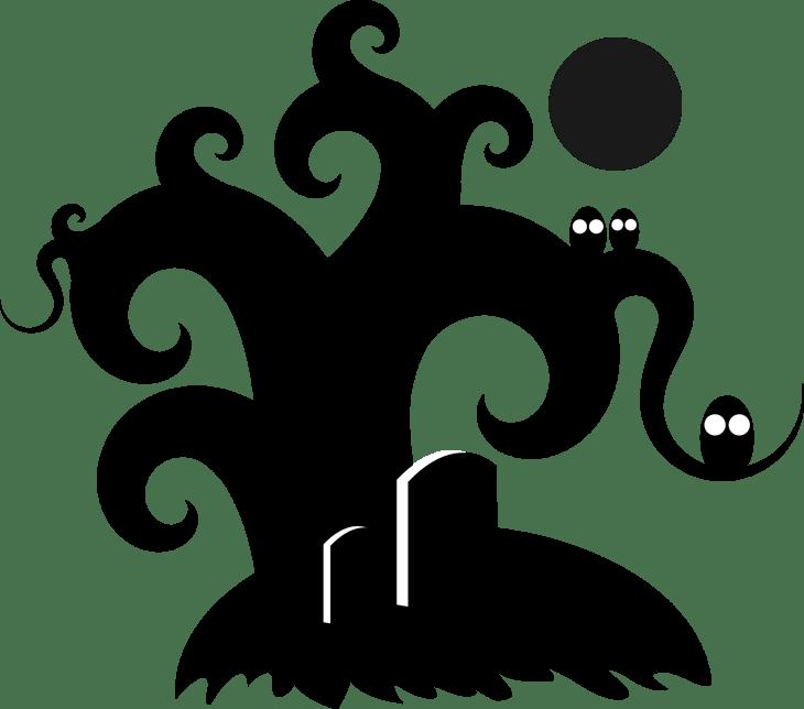 Halloween Tree Printable Clip Art