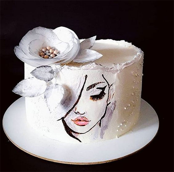 Portrait of a Young Lady Cake