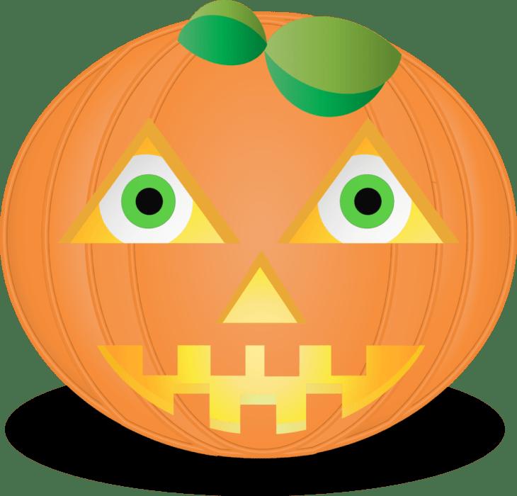 Pumpkin Smiley Halloween Emoji | Halloween Clip Art