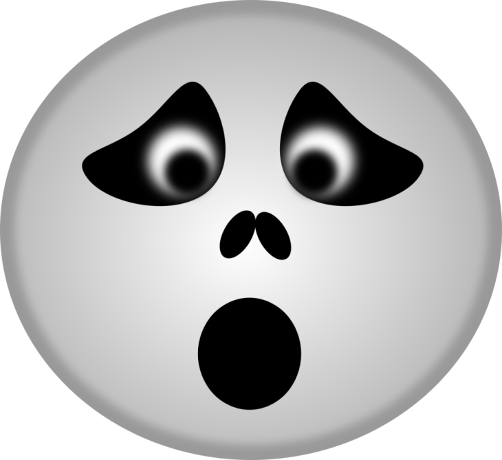 Scared Ghost Halloween Emoji | Halloween Clip Art