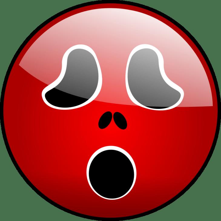 Scared Red Ghost Halloween Emoji