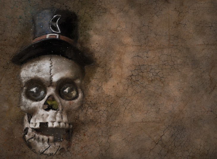 Skull with Top Hat | Print Your Own Halloween Art