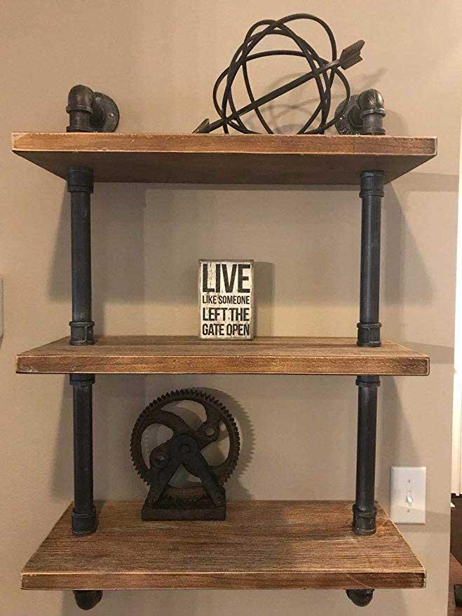 Small DIY Pipe Shelves