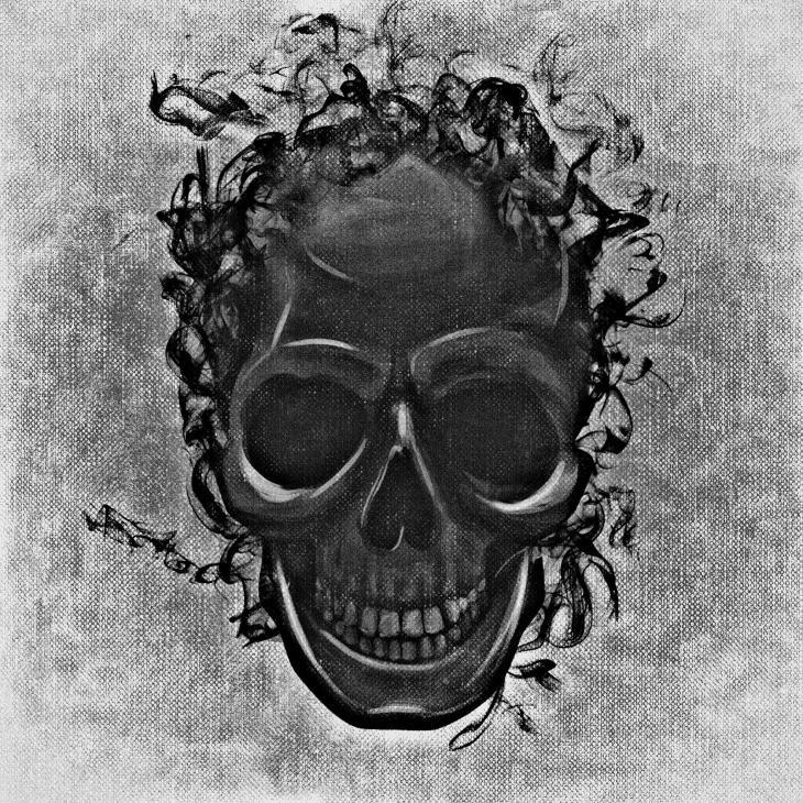 Woven Skull Free Halloween Printable