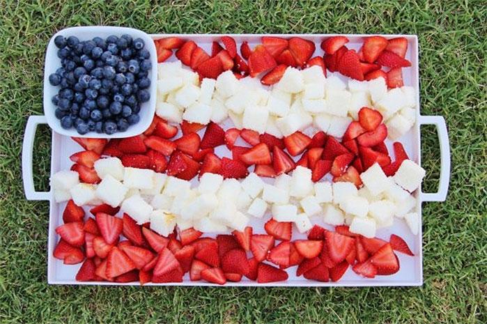 American Flag Fruit Platter
