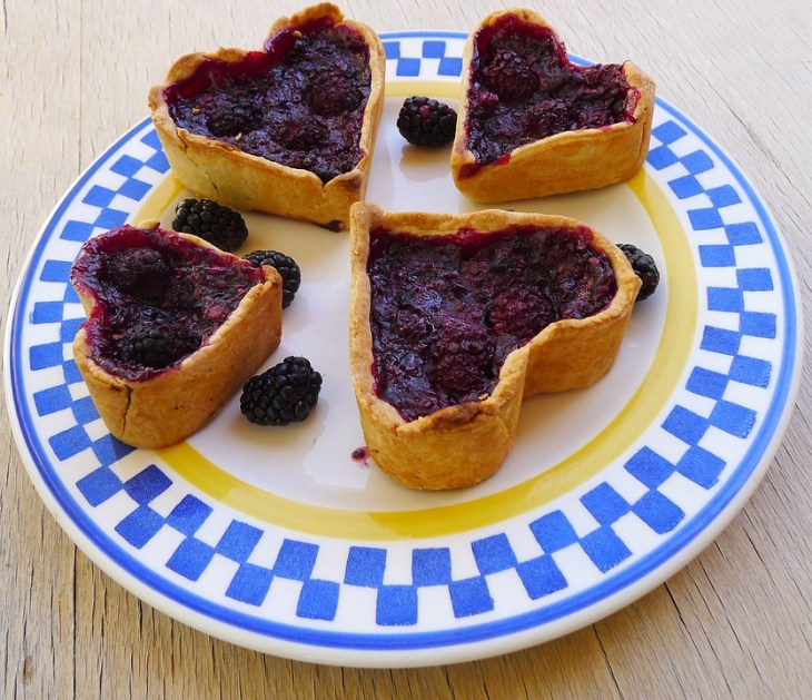 Blueberry Heart Tarts