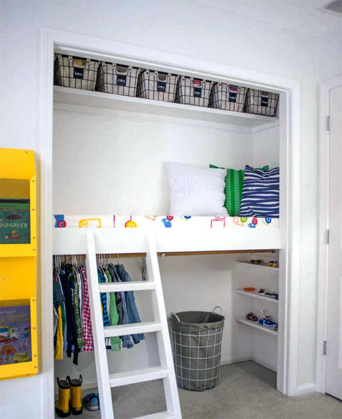 DIY Kid's Closet Loft Home Renovation Project