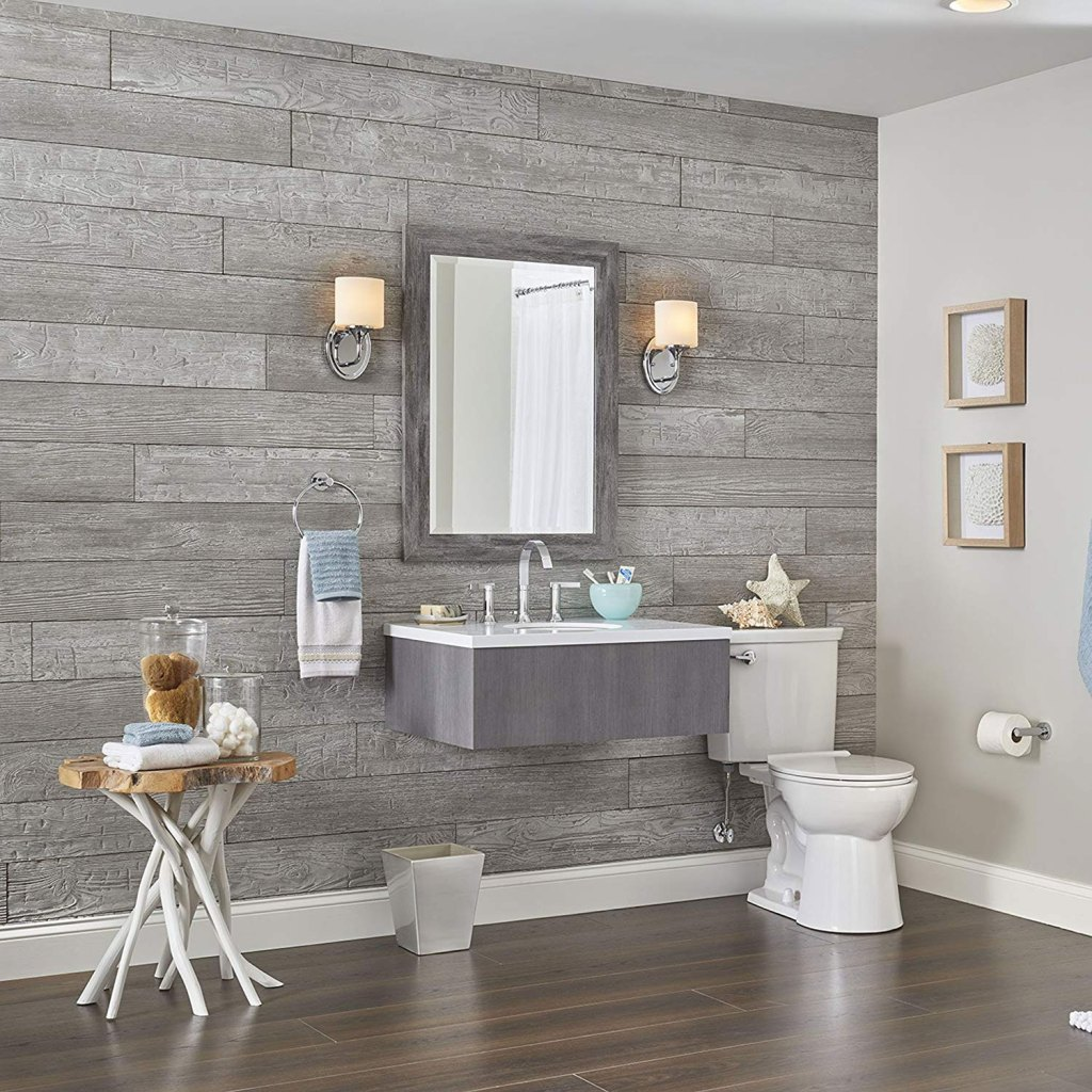 DIY Rustic Plank Wall Home Renovation Project