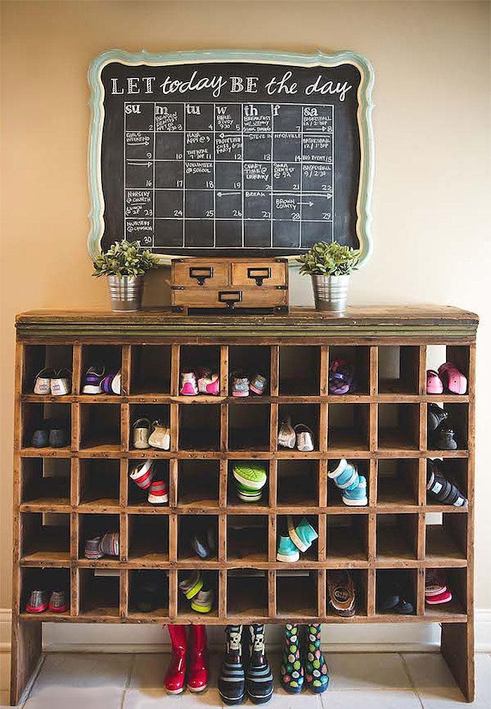 DIY Shoe Cubby