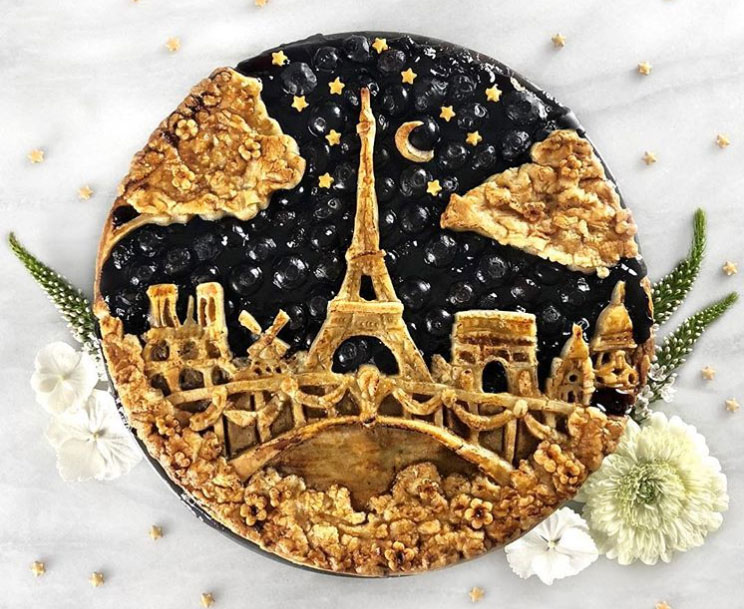 Eiffel Tower at Night Pie