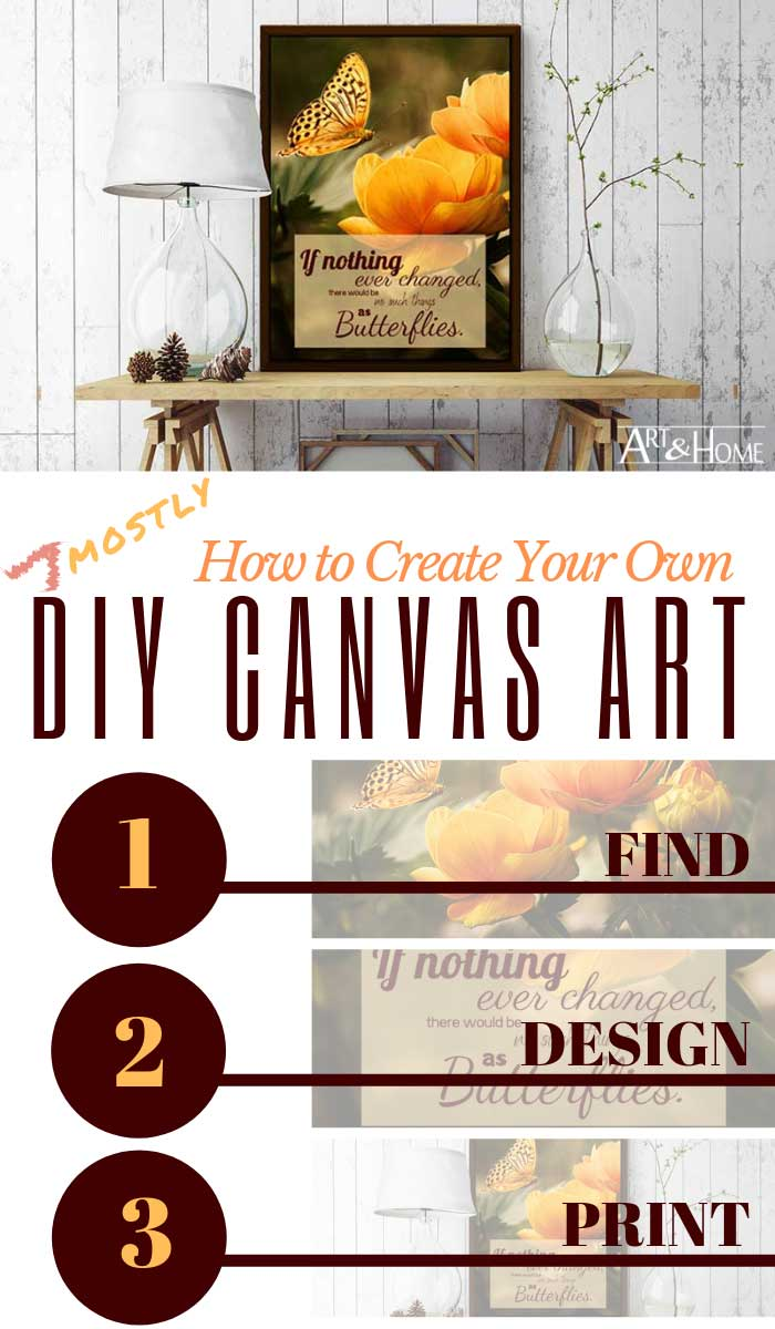 How to Create Your Own (Mostly) DIY Canvas Art
