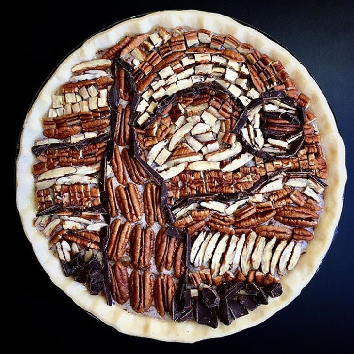 Starry Night Pie Design by Lauren Ko