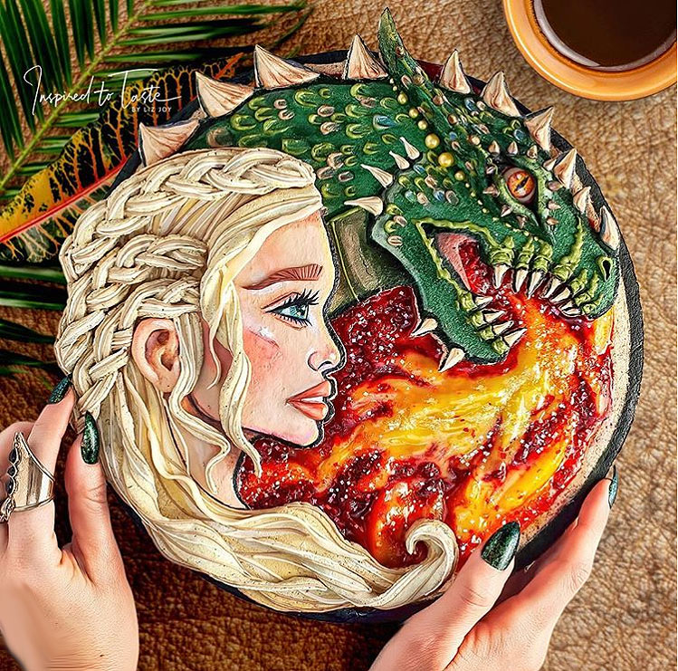 Liz Joy Daenerys Targaryen Game of Thrones Pie
