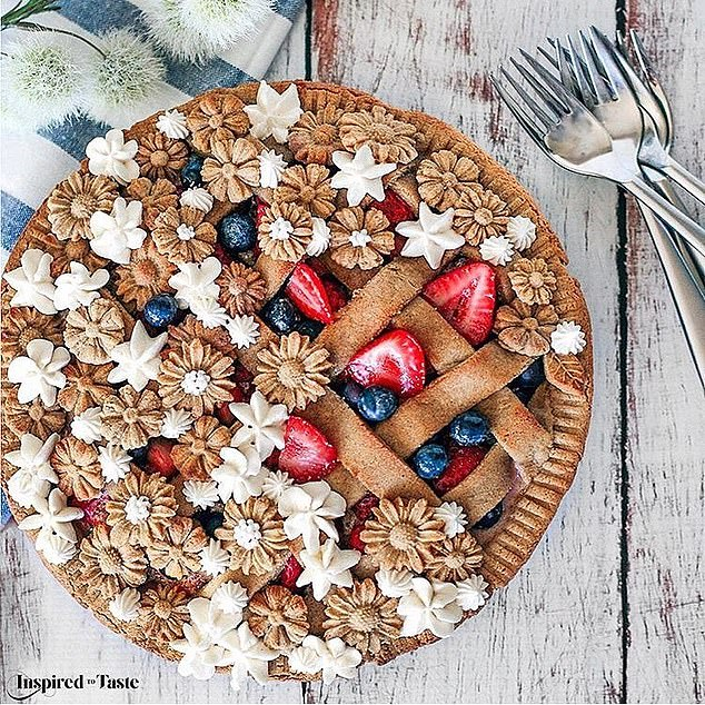 Liz Joy Summer Berries and Flowers Pie