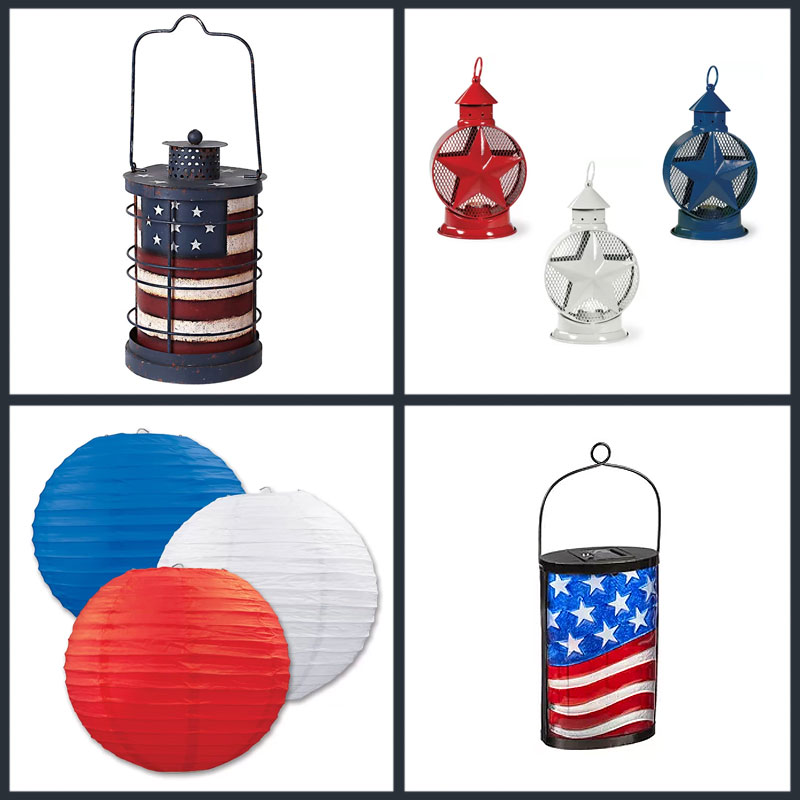 Red, White, and Blue Lanterns