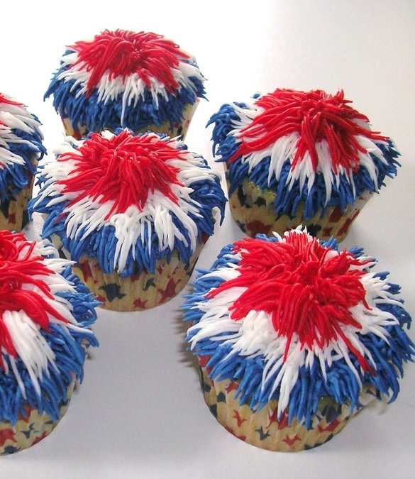 Patriotic Firecracker Cupcake