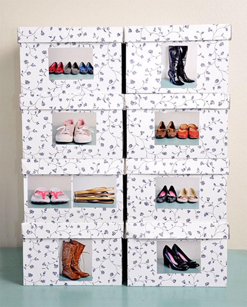 DIY Shoe Organization & Storage Boxes
