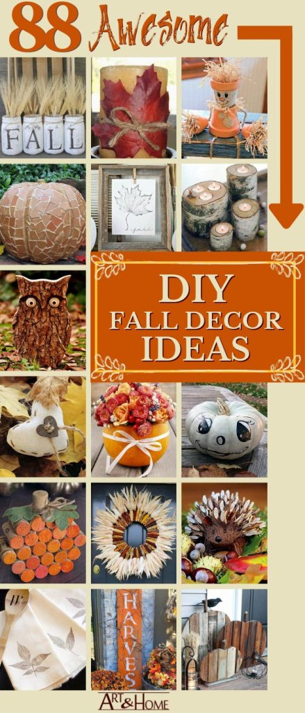 88 Awesome DIY Fall Decor Projects & Ideas
