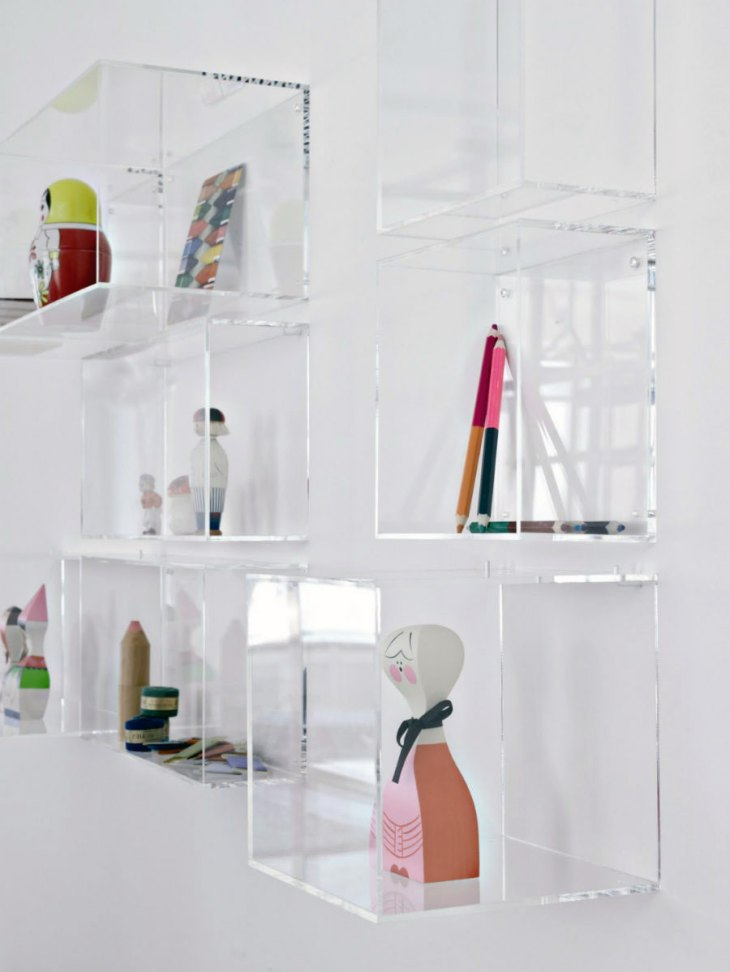 Acrylic Cube Shelves