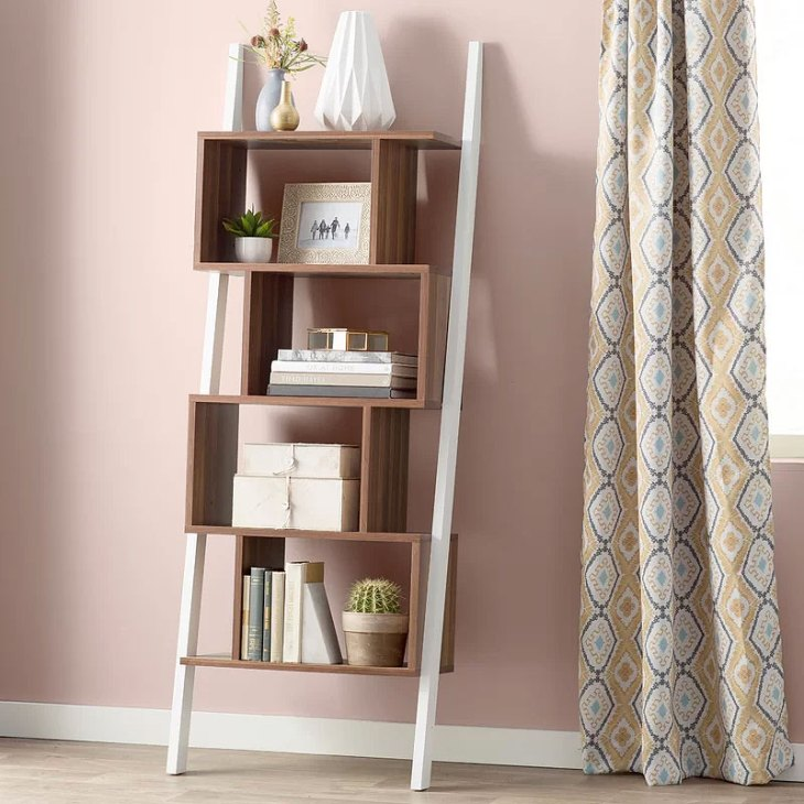 Bostic Geometric Cubes Ladder Bookcase
