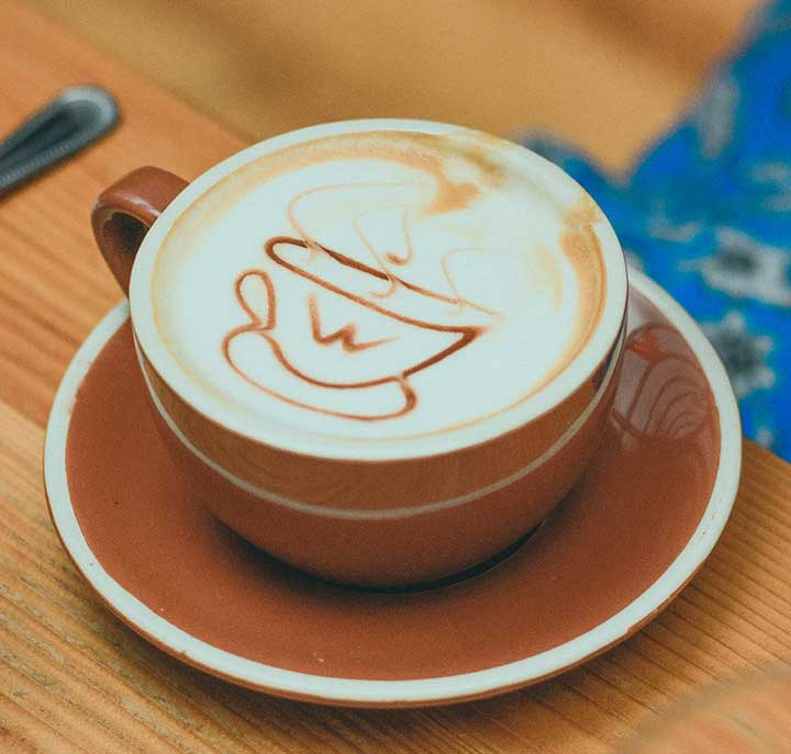 Coffee Within a Coffee Latte Art