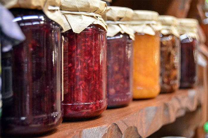 Show Off Your Preserves as Decor