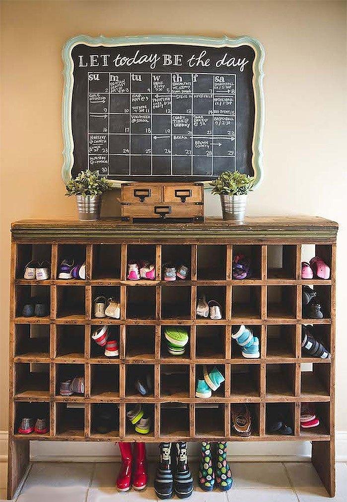DIY Shoe Cubby Shelf