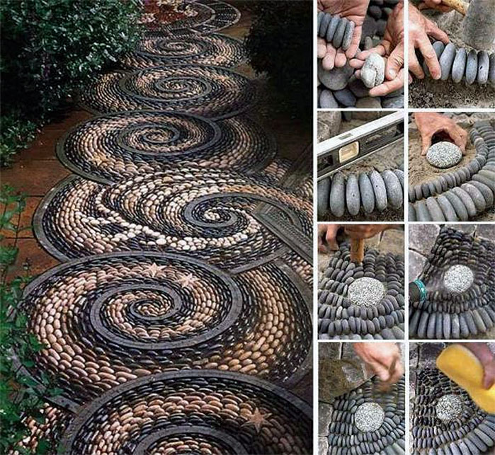 DIY Backyard Ideas | Spiral Rock Path