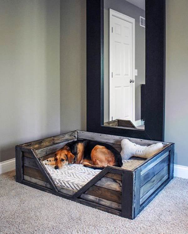 DIY Wood Dog Bed
