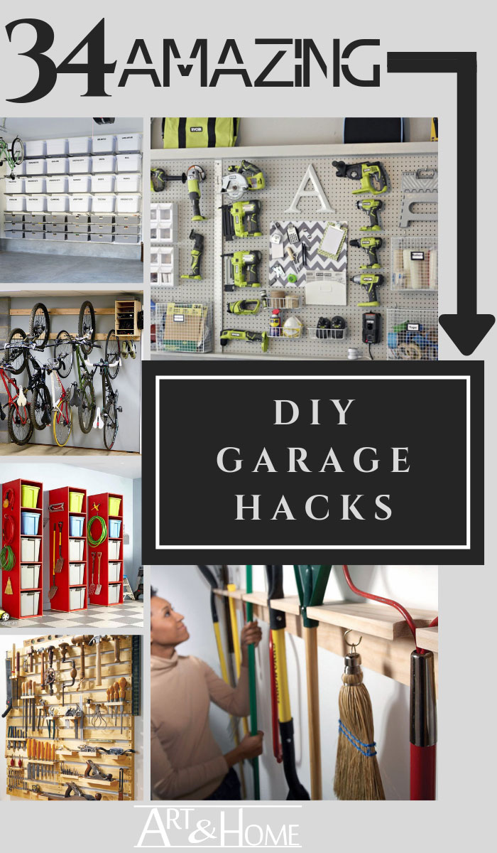 34 Amazing DIY Garage Organization Hacks