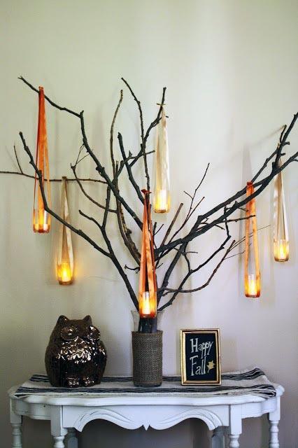 Fall Luminary Tree