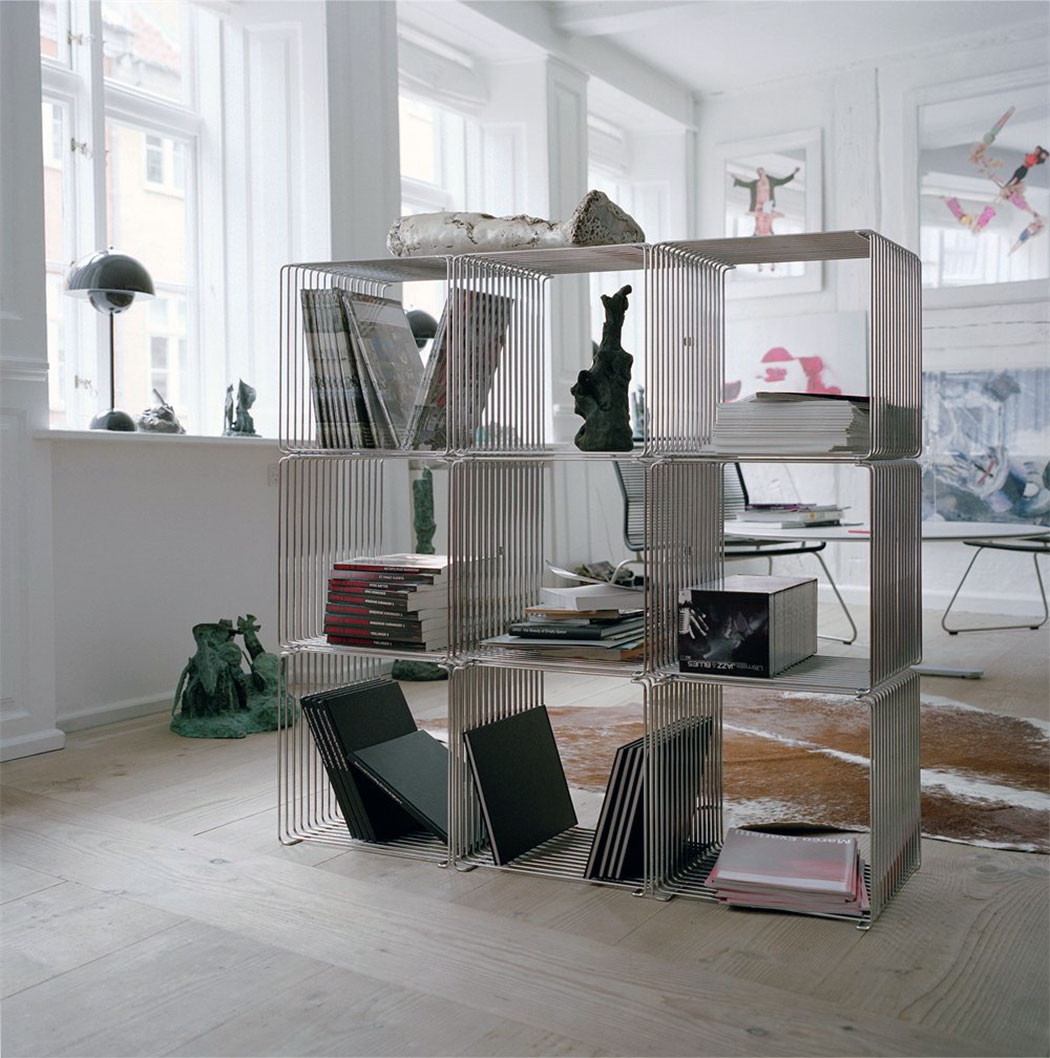 Free Standing Wire Cube Shelf